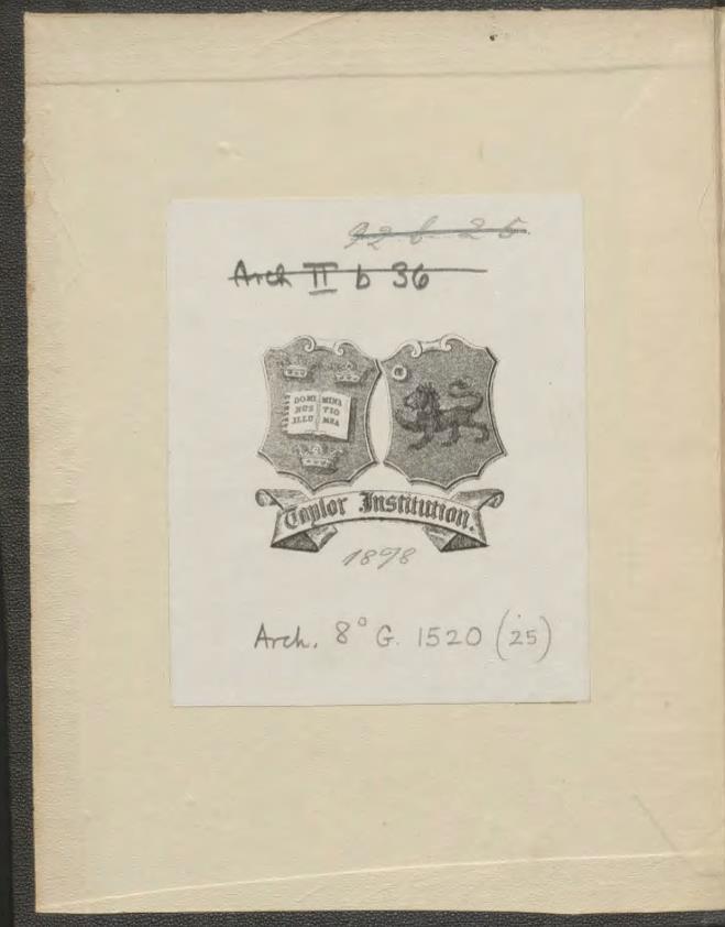 Ill. 1: Taylorian, Arch.80.G.1520(25)