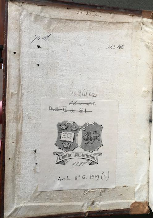 Ill. 2: Taylorian, Arch.8o.G.1519(11)