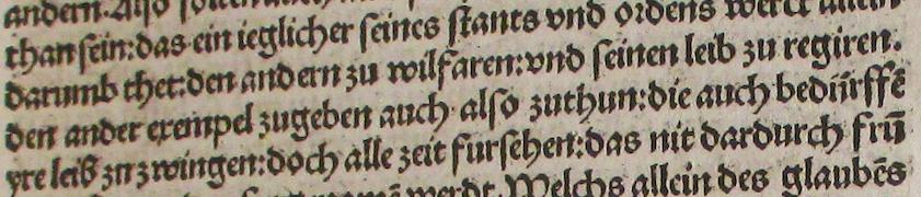 extract of page c3r of the Speyer print of 'Von der Freiheit eines Christenmenschen'  signature: Arch.8o.G.1519(11/14)