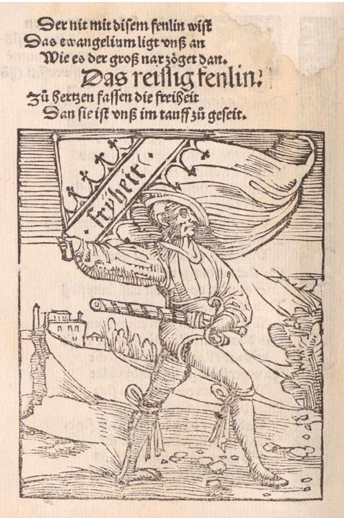 Thomas Murner, Von dem grossen Lutherischen Narren wie in doctor Murner beschworen hat, Straßburg: Johann Grüninger 1522, VD16 M 7088, fol. P1v. BSB Munich, Rar. 870, urn:nbn:de:bvb:12-bsb00033099-0